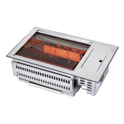 R1017  4각 세라믹로스터(무동력)가스배관식