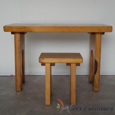 통나무 입식 테이블 세트